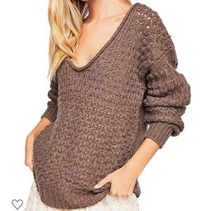 Free People Women's Crashing Waves Pullover XS